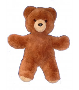 Doudou peluche OURS marron brun TRUDI - H 38 cm