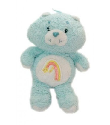 Peluche Bisounours Grostaquin Wish Bear Bleu vert Pastel 32 cm KENNER