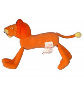 Doudou peluche LION Orange - MARESE L 20 cm + queue
