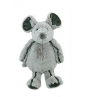 Doudou peluche SOURIS grise Couture Dream MONOPRIX - 32 cm