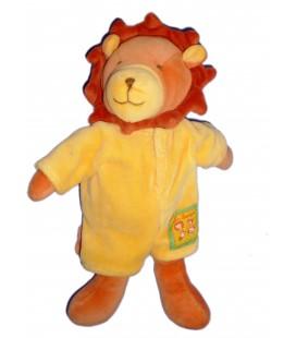 Doudou peluche LION jaune orange - MOULIN ROTY - Les Loustics - H 28 cm