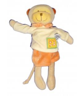 Doudou peluche SINGE beige orange - MOULIN ROTY - Les Loustics - H 28 cm