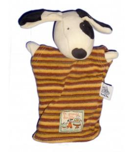 Doudou Marionnette CHIEN - MOULIN ROTY - La Grande Famille - H 22 cm