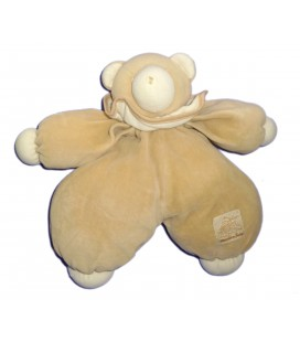 Doudou peluche OURS beige - MOULIN ROTY - H 25 cm - Grelot Hochet
