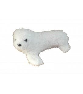 Doudou peluche PHOQUE blanc BOULGOM - 23 cm