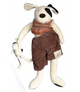 Doudou peluche CHIEN et son doudou - MOULIN ROTY - La Grande Famille - H 45 cm