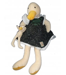 Doudou peluche CANARD OIE et son doudou - MOULIN ROTY - La Grande Famille - H 50 cm
