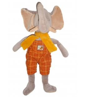 Doudou peluche Elephant MOULIN ROTY Les Zazous 38 cm