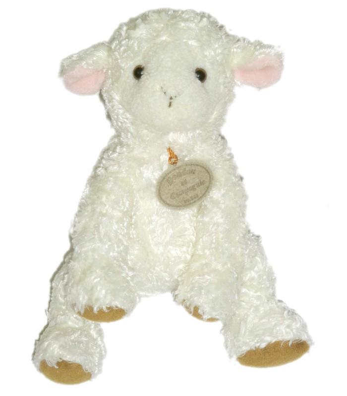 doudou et compagnie mouton agneau blanc h 18 25 cm. Black Bedroom Furniture Sets. Home Design Ideas