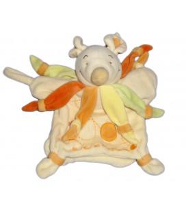 DOUDOU ET COMPAGNIE - Marionnette SOURIS Maman écru orange vert *Sans bébé*