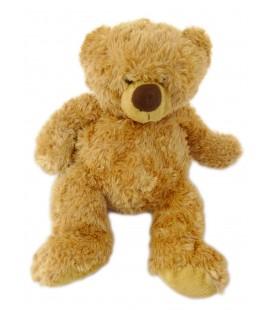 Doudou peluche ours marron roux MARIONNAUD 38 cm