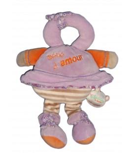 DOUDOU ET COMPAGNIE - Les Bouilles de Doudou - Bébé d'amour Mauve orange 3577B6