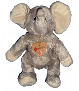 TRUDI Bussi - Doudou peluche ELEPHANT Gris - Elefant plush Baby Comforter H 24 cm