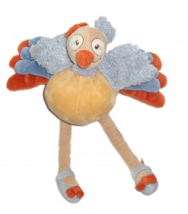 Doudou peluche Oiseau Autruche Sissi NOUKIES 24 cm