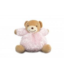 KaLOO - Doudou ours rose boule - Fourrure - Fur - 16 cm