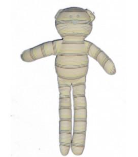 Doudou CHAT rayures - BOUT'CHOU MONOPRIX - H 28 cm