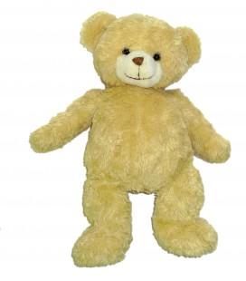 Peluche doudou OURS beige - Monoprix - H 25 cm / 38 cm Longs poils doux