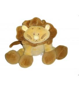 Peluche doudou Lion marron beige NOUKIES Noukie's H assis 22 cm