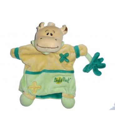 Doudou Marionnette HIPPOPOTAME Beige Vert - BABY NAT' Babynat