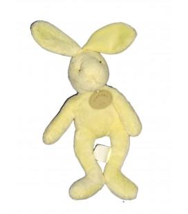 Doudou Lapin jaune clair Babynat 25 cm