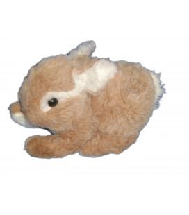 Doudou Peluche LAPIN marron clair beige blanc BOULGOM - L 24 cm
