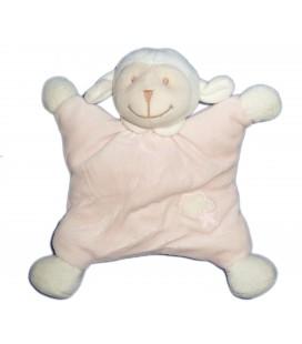 Doudou Mouton Agneau Rose blanc Nuage Etoile Grelot - BOUT'CHOU MONOPRIX