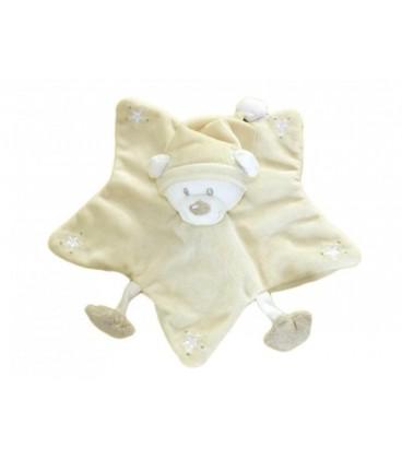 Doudou plat OURS beige NICOTOY Kiabi - Etoiles - Bonnet