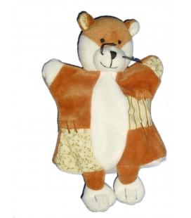 Doudou Marionnette Renard Histoire d'Ours - Blanc marron
