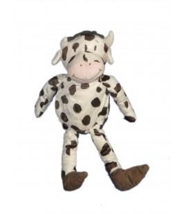 Doudou Peluche vache Fabler Ko blanche taches noires IKEA 36 cm