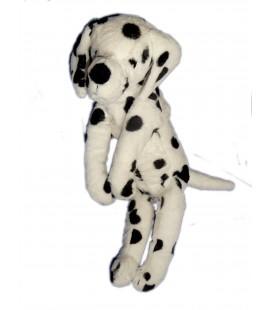 Doudou Peluche chien Dalmatien Blanc taches Noires IKEA 38 cm