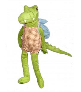 Peluche doudou Crocodile Salopette Sac à dos IKEA 55 cm