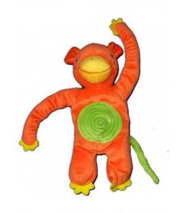 Peluche doudou SINGE orange Spirale Verte - Barnslig Apa Plush - IKEA - H 25 cm