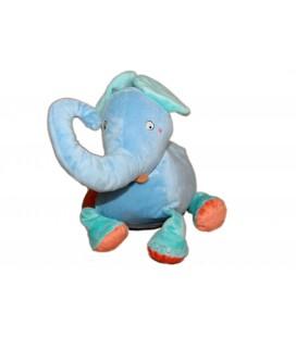 Peluche doudou Elephant bleu orange Barnsling Elefant IKEA 26 cm
