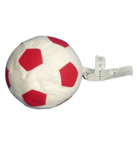 Peluche Doudou BALLON Blanc Rouge - Sparka Plush - IKEA - H 20 cm