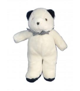 Doudou peluche ours blanc bleu marine Viktig Plush IKEA 34 cm
