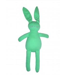 Doudou tissu Lapin Vert - PETIT BATEAU - H 25 cm