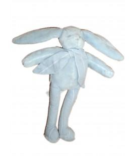 Doudou Lapin bleu Rayures SERGENT MAJOR - H 25 cm
