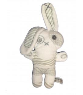 Doudou Lapin blanc TAPE A L'OEIL - H 18 cm / 28 cm oreille levée