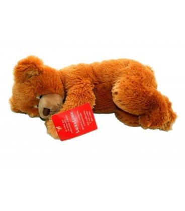 Doudou peluche OURS marron roux SUNKID - 30 cm