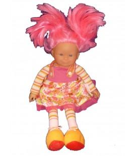 Doudou poupée COROLLE Cheveux roses - 38 cm Ref 95 11J12E