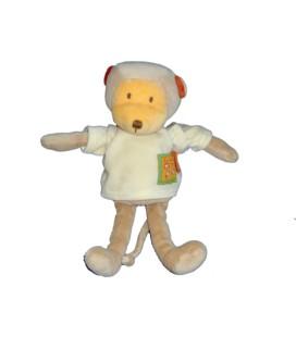 Doudou peluche SINGE beige orange - MOULIN ROTY - Les Loustics - H 28 cm - 3805MO-1