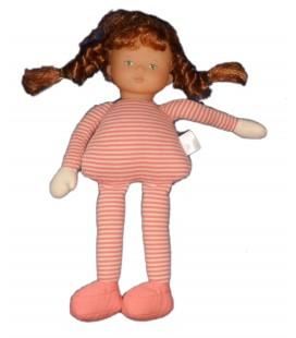 Doudou poupée COROLLE Tissu chiffon Cheveux roux Rousse - 36 cm 2004