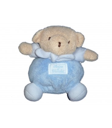 petit doudou ours beige bleu tartine et chocolat h 13 cm. Black Bedroom Furniture Sets. Home Design Ideas