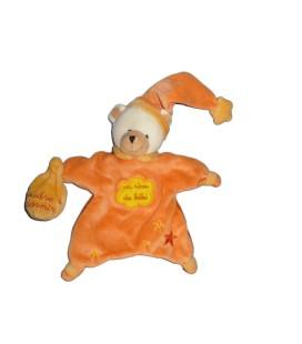 Doudou Marionette OURS orange Babynat Un reve de bebe Poudre a dormir