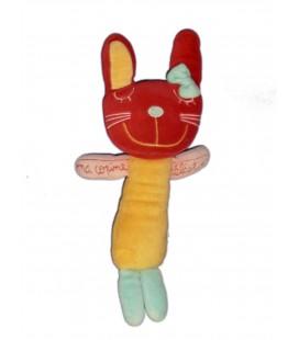 Doudou CHAT rouge jaune Ma Copine Célestine - Du Pareil au Meme - DPAM - H 30 cm