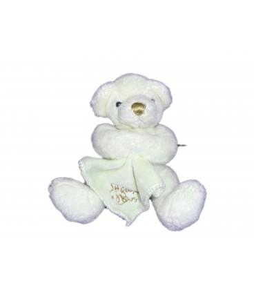 Petit doudou OURS blanc Mouchoir - HISTOIRE D'OURS - H 11 cm