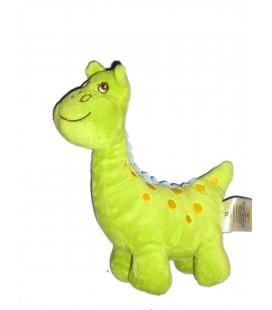 Doudou dinosaure Vert orange - H ET M H M - L 20 x H 22 cm