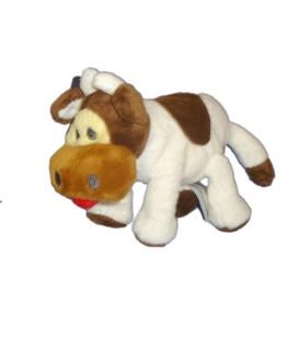 Doudou Peluche Vache marron blanc - H ET M H M - H 14 cm