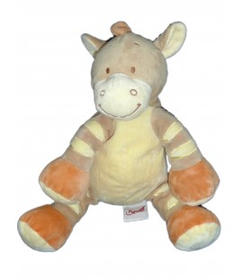Doudou CHEVAL beige orange - BENGY Amtoys - H 22 cm assis - 2005
