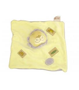 Doudou plat LION jaune mauve parme - BENGY Amtoys - 2005